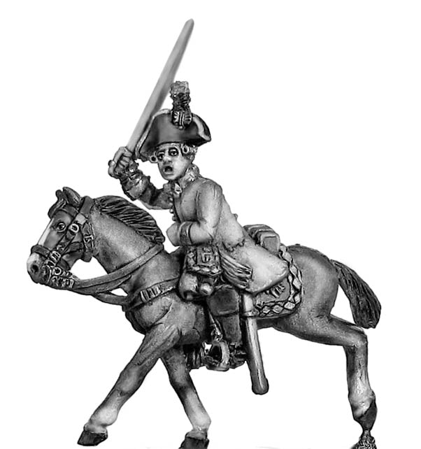 Kurassier officer charging (28mm)