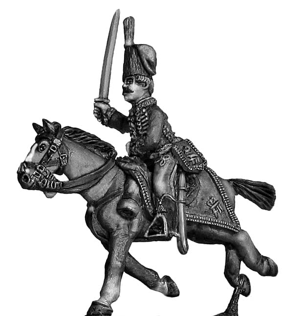 Hussar officer charging (28mm)