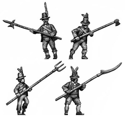Tyrolean with pole arm tall hat (28mm)