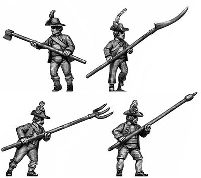 Tyrolean with pole arm turned-up hat (28mm)