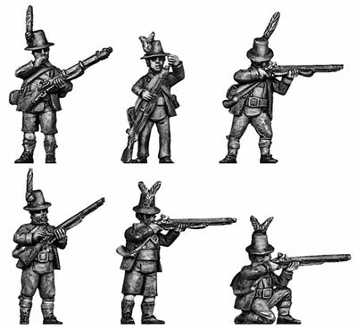 Tyrolean with firearm tall hat (28mm)