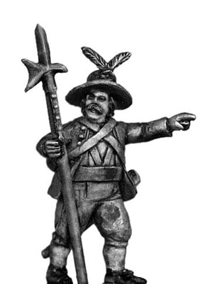 Tyrolean sergeant with halberd (28mm)
