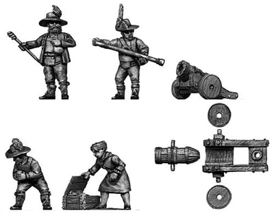 Tyrolean cannon and crew (28mm)
