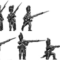 French Light Infantry skirmishing deal Middle Blue uniform (28mm)