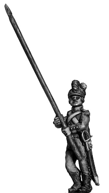 Light Infantry standard bearer c1793-96, casque helmet, short (28mm)