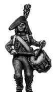 Light Infantry drummer c1793-1800, bicorne, short tailed jacket (28mm)