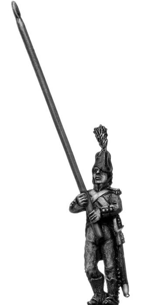 Light Infantry standard bearer c1793-1800, bicorne, short tailed (28mm)