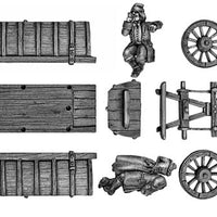 Corpse wagon and victims (28mm)
