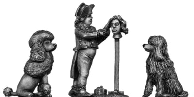 NEW - Barber and dogs (28mm)