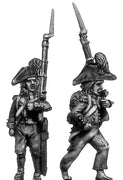Carabinier c1793-1800, ragged campaign uniform, bicorne, short (28mm)