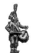 Light Infantry drummer c1793-1800, ragged campaign uniform, bicorne (28mm)