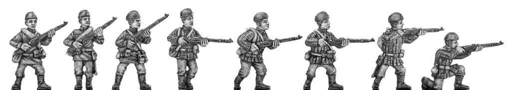 Soviet infantry in side cap with rifle (28mm)