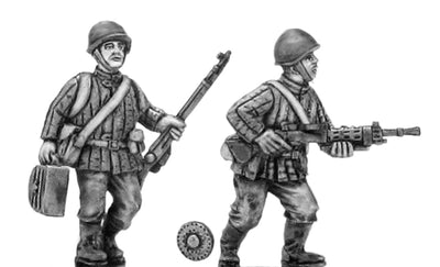 Soviet infantry LMG team in helmet (28mm)