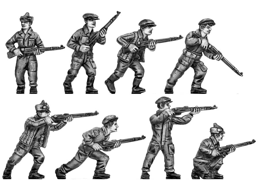 Soviet Factory Militia with rifle (28mm)