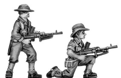 Australian infantry attacking, slouch hat, Bren gun (28mm)