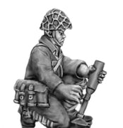 NEW - Japanese knee mortar firing, skrim helmet (28mm)