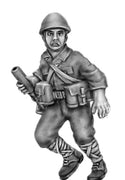 NEW - Japanese knee mortar advancing, helmet (28mm)
