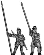 French Infantry Standard Bearer in kepi (18mm)