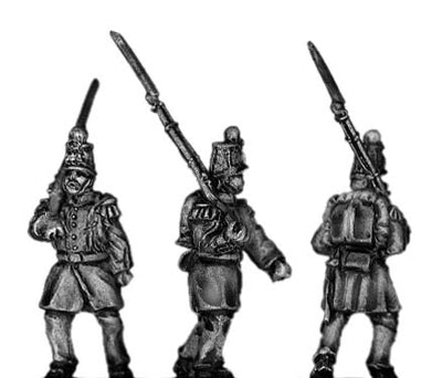 French Infantry in shako marching (18mm)