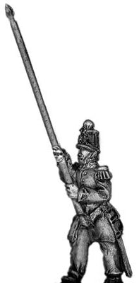 French Infantry Standard Bearer in shako (18mm)