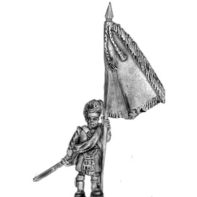 93rd Highlander Standard Bearer, with separate cast flag (18mm)