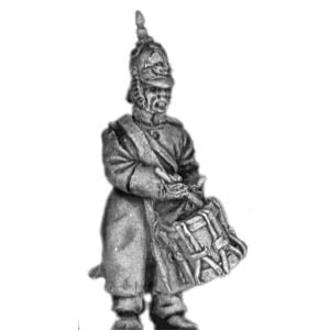 Russian Infantry Drummer in greatcoat and helmet (18mm)