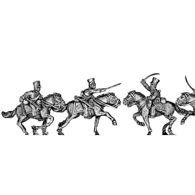 Russian Hussar, charging (18mm)