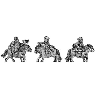 Dwarf cavalry, with crossbow (18mm)