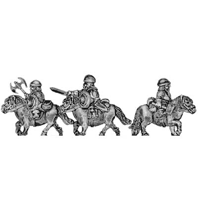 Dwarf cavalry, with blade (18mm)