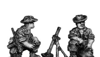 Legionnaire 60mm Mortar team in bush hat (15mm)