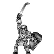 Man-Orc light infantry chieftain (18mm)