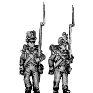 Flank company, marching, shako cords, plume (18mm)