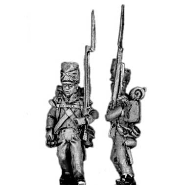 Flank company, marching, covered shako (18mm)
