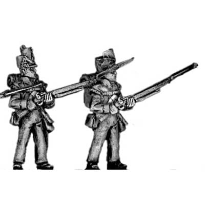 Flank company, standing at the ready (18mm)