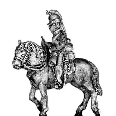 Heavy Dragoon Trumpeter, in helmet (18mm)