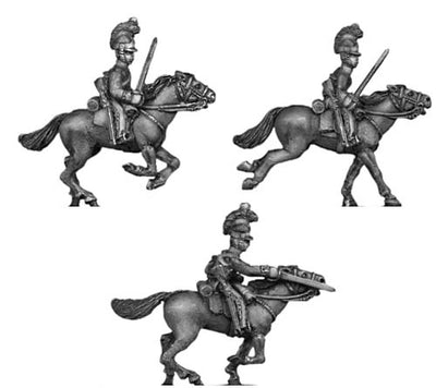 Household cavalry in helmet charging (18mm)