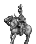 Household cavalry trumpeter in helmet (18mm)