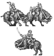 Orc fell beast rider with blade (18mm)