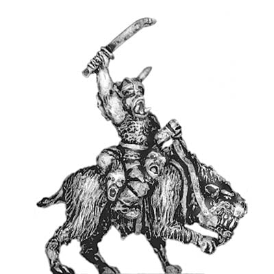 Orc chief, riding fell beast (18mm)