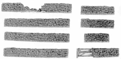 Stone Walls and Wooden Gate Set (15mm)