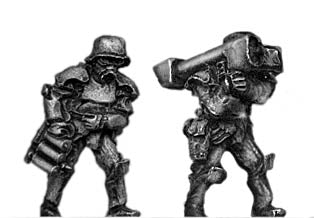 Sci-Fi German Stormtrooper team with LAW (15mm)