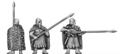 Pikeman, with cloak (15mm)