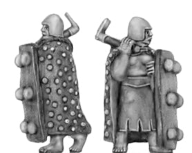 Axeman, with shield and cloak (15mm)