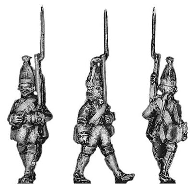 Prussian Grenadier, marching (18mm)