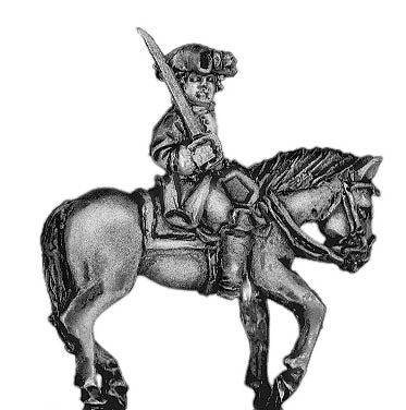Prussian mounted infantry officer (18mm)