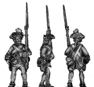 German Musketeer marching (18mm)