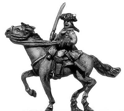 Mounted officer in cuirasse (18mm)