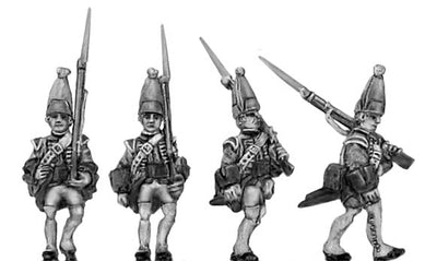 Grenadier in mitre, marching (18mm)