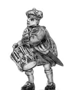 Highland drummer in Flat bonnet (18mm)