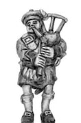 Highland piper in Flat bonnet (18mm)